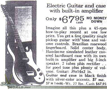 Silvertone 1448 by Danelectro (ad copy)