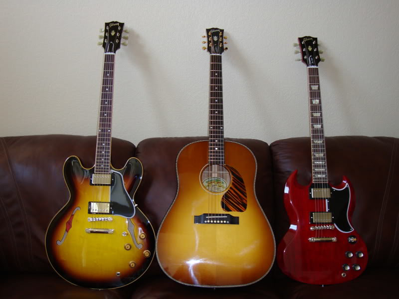 Gibsons on Leather