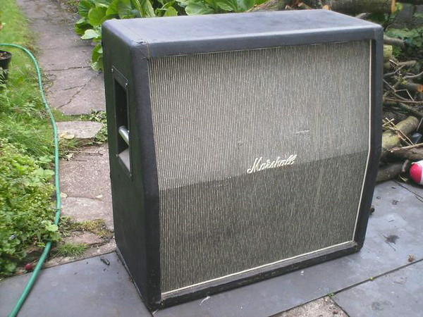 1968 Marshall Slant Pinstripe 4x12 Cabinet