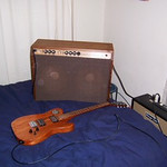 Telecaster Copy and Fender Bantam Bass Amp