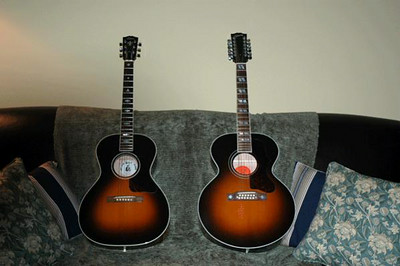 1991 Gibson Nick Lucas and 2000 Gibson J-185 12 String