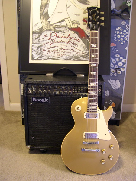 1969 Gibson Les Paul Deluxe Goldtop and Mesa Boogie Mark IV Amp