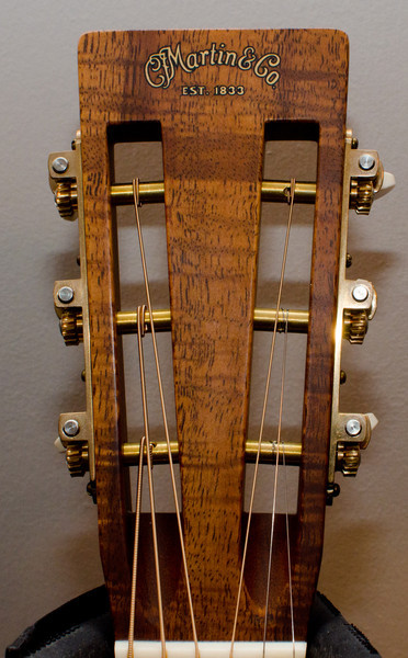 Square-slotted headstock with small Martin logo decal.
