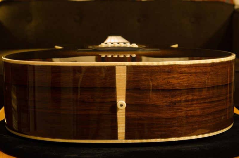 The end strip is also flame maple.