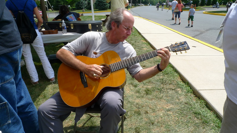 """UMGF'er Jon Garon, of My Favorite Guitars, putting an incredible Bubinga OM through its paces like few others can.  <br /> <br /> """"My window... faces the South....""""<br /> <br /> Check out YouTube to hear Jon play if you haven't had the pleasure."""