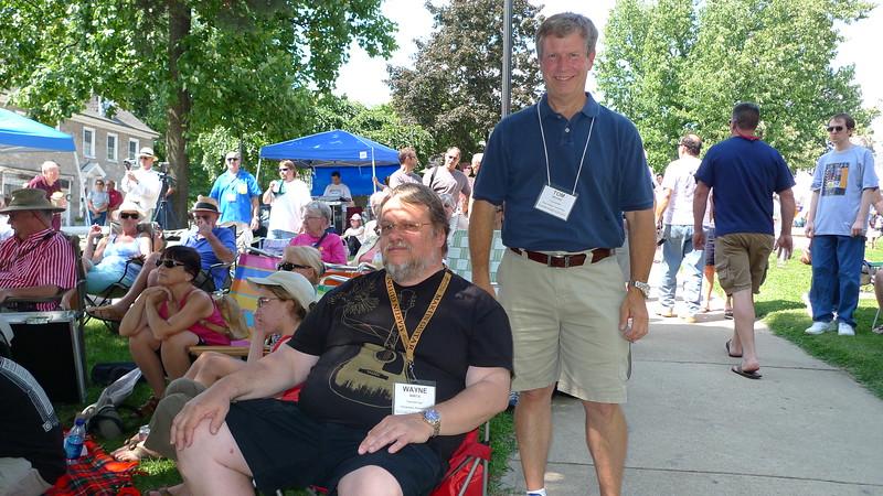 Wayne Wirta and Tom Moore at Martins on Main Street.