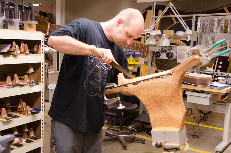 Neck-carving.