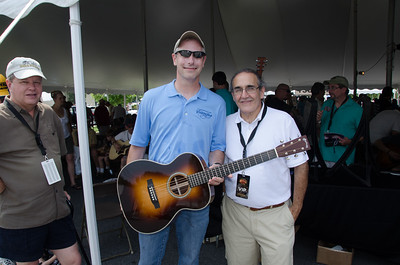 Ed Golden from the Custom Shop, checking out the guitar they sent me 3 weeks ago.