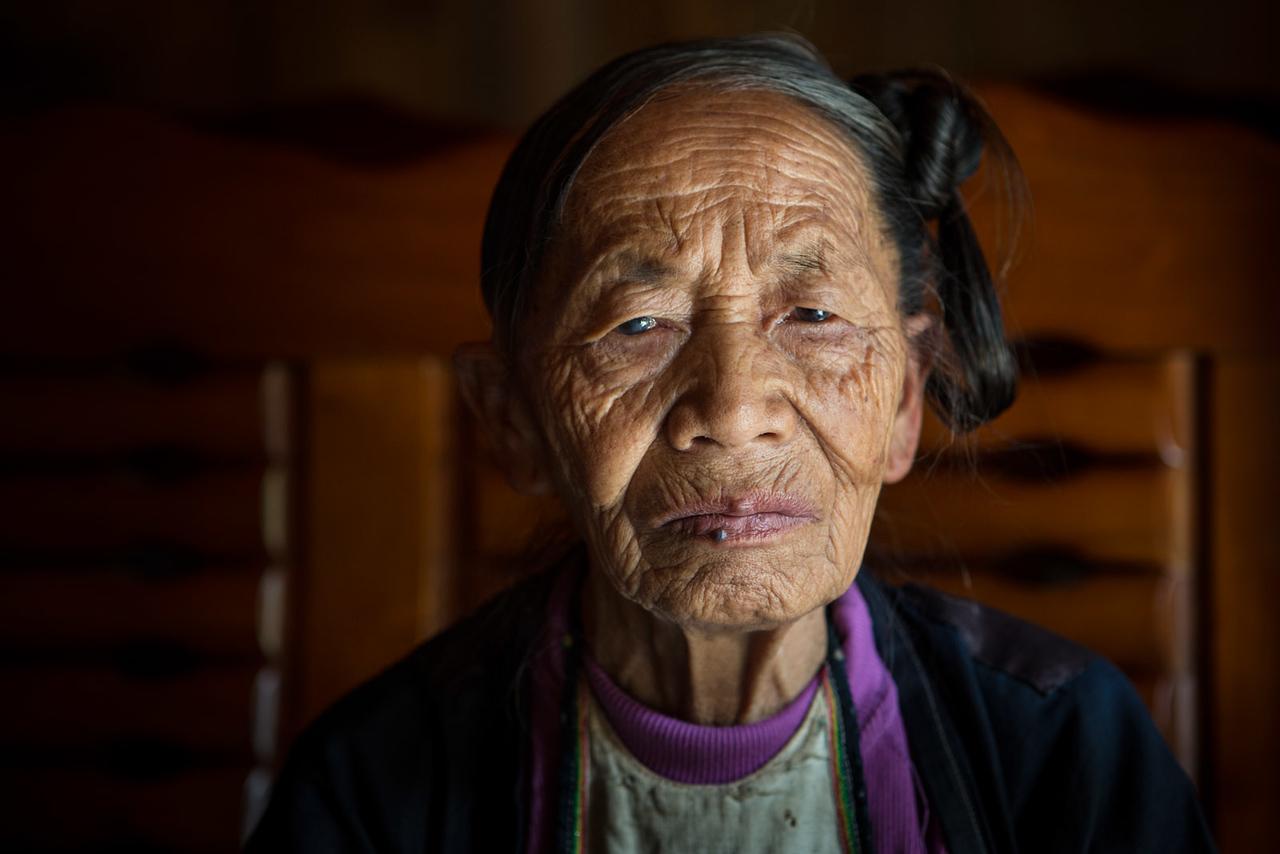 Old lady. Basha.