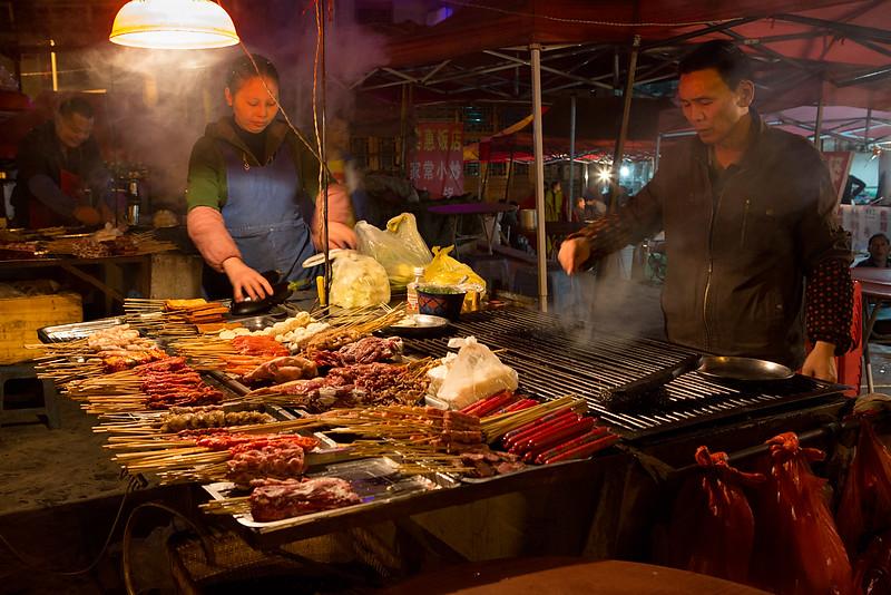 Food stall. Kaili.