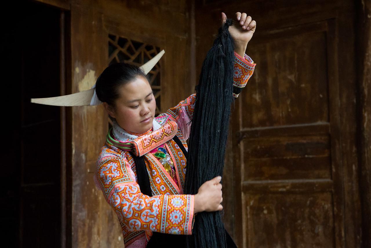 Long-horn Miao. Longga village, Suojia.