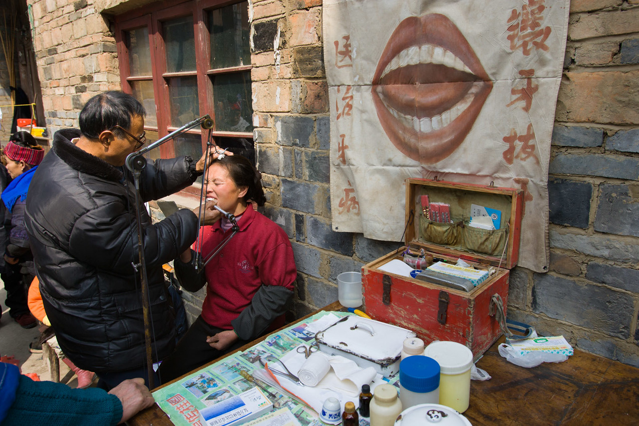 Dentist, just outside Kaili.