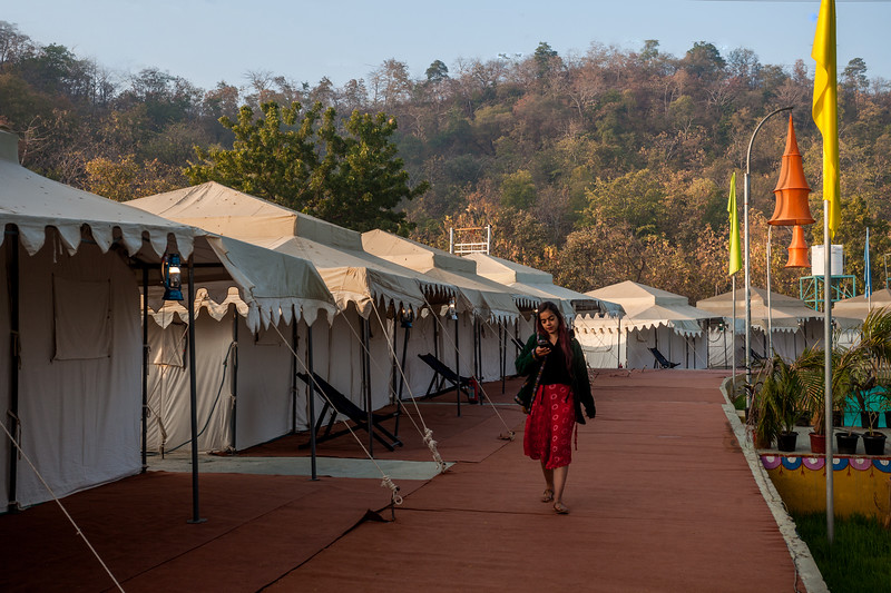 Kevadia tent city, Gujarat, India