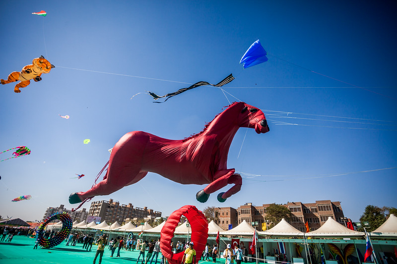 Galloping horse at the International Kite Festival 2019, Ahmedabad, India