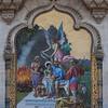 Mosaic art work on the Lukshmi Vilas Palace wall, Vadodara, India
