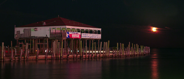 Moonrise over Kemah