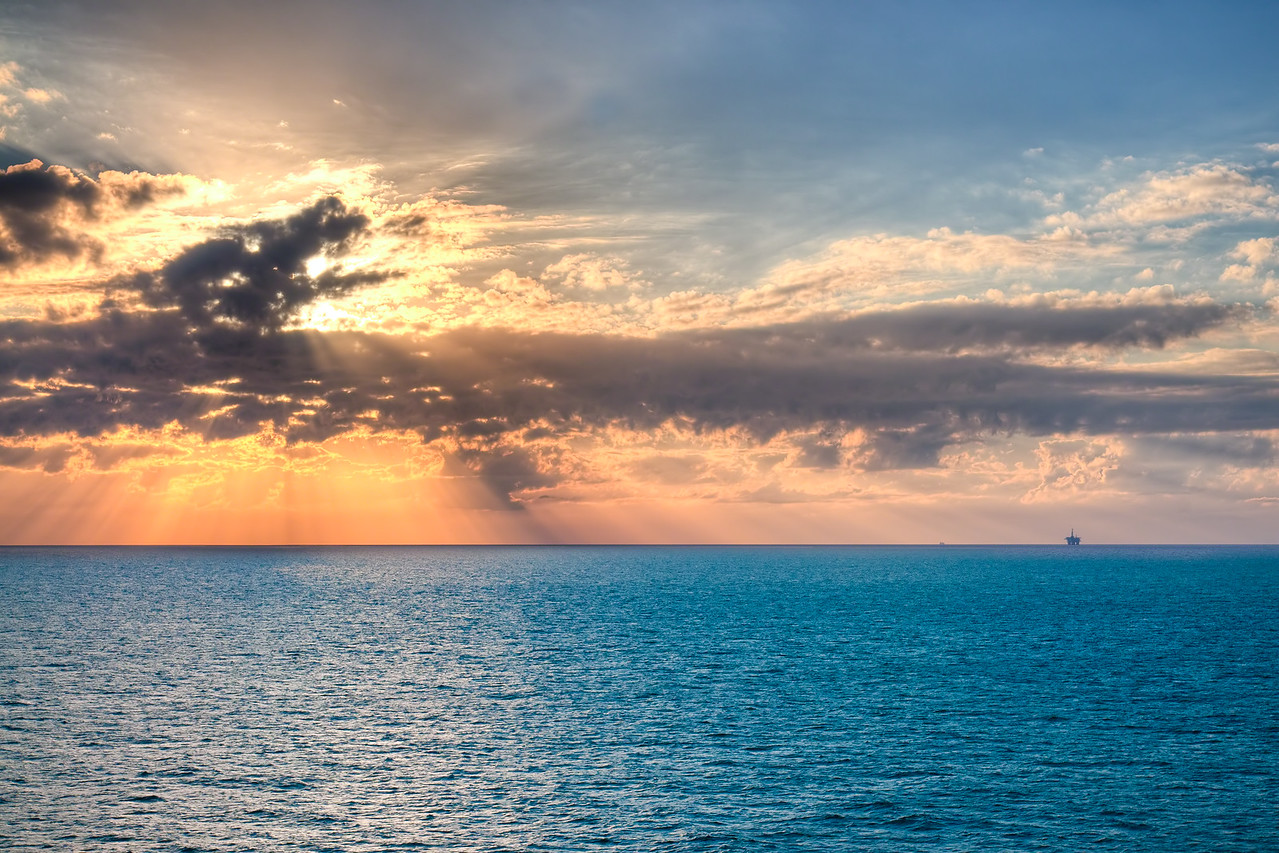 Gulf of Mexico Ocean Sunset
