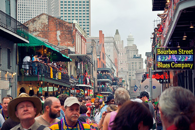 Bourbon Street Crowds