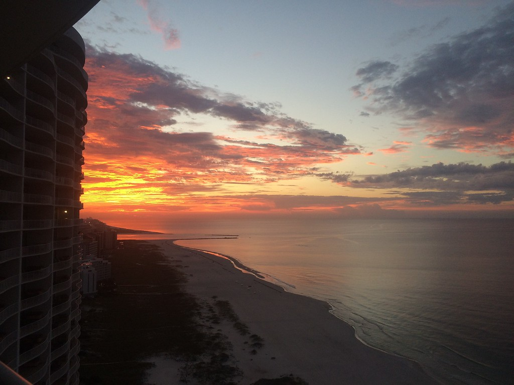 Sunset over Gulf Shores