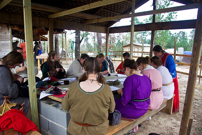 Mistress Margot's Naalbinding Class at Early Period