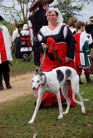 Mistress Rebecca with the Greyhounds
