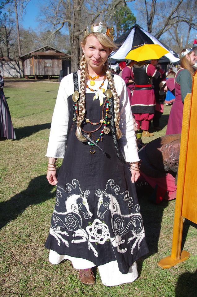 Meridian Rose Tourny Queen Amber  Dress by Joan of Ook