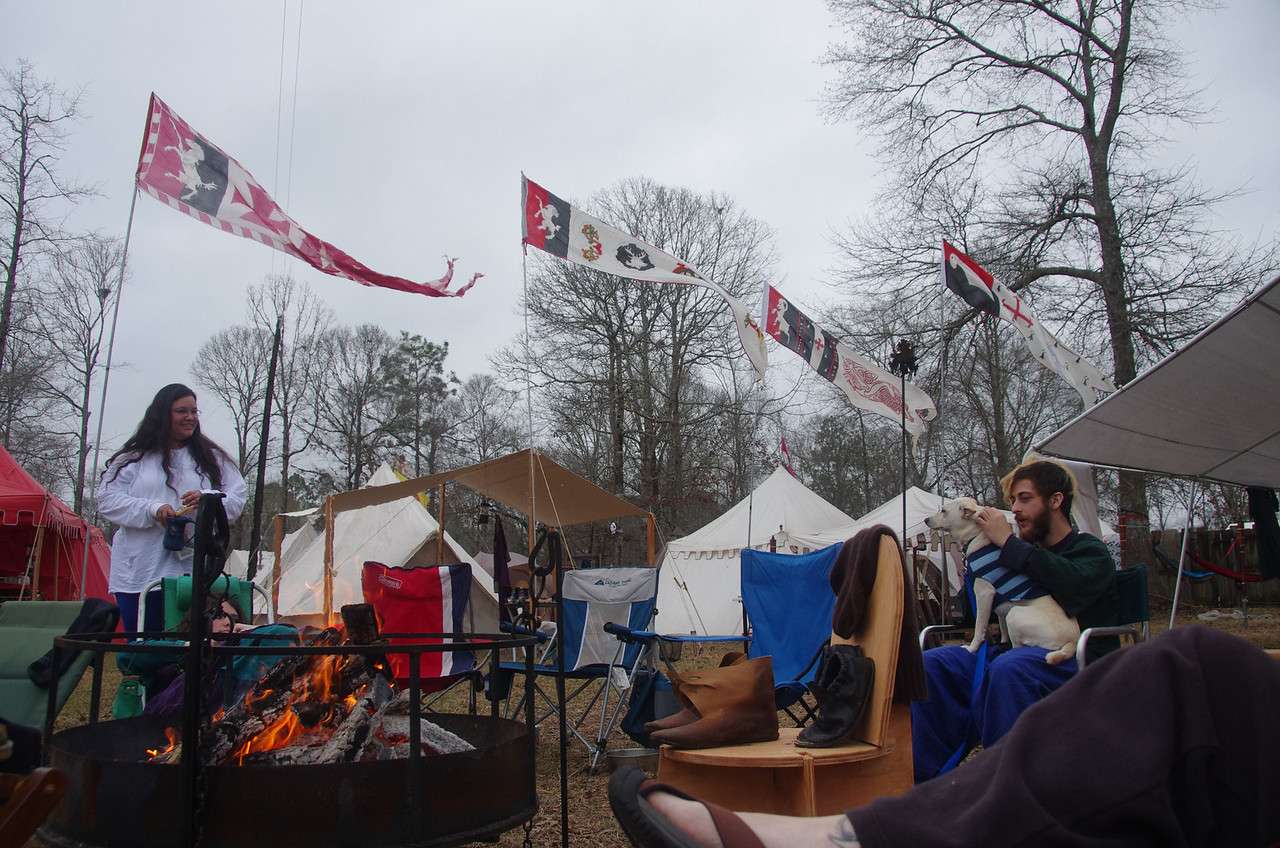 drying out the camp