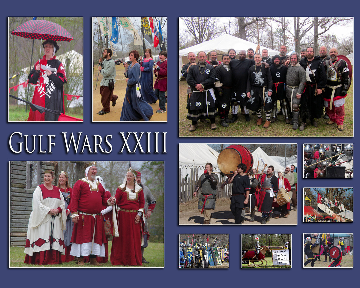 Collage of photos from Gulf Wars XXIII.    special price $40 after shipping  16 X 20 print  suitable for framing.