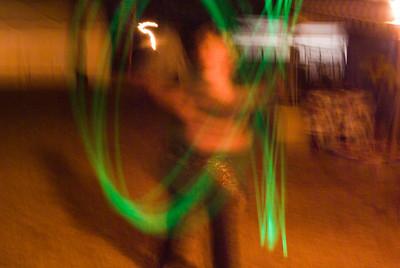 Gabriel with glow stick