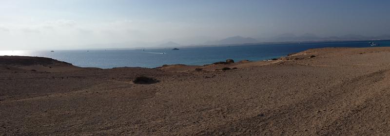 Looking over towards Sharm El Sheikh