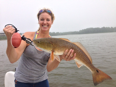 This is me (DANA) with my catch