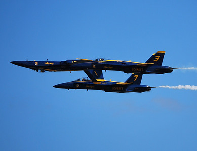 Blue Angels practice at Pensacola Naval Air Station, about 35 minutes from condo