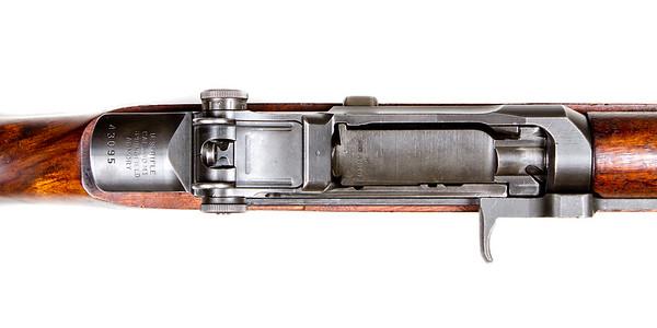 Post war M1 Garand. Springfield receiver and mix-match additional parts.