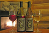 PR-S1: William L. Wendover Private Selection Pinot Noir and Pinot Grigio from Stonefield Vineyard.  Ruth did the great Gunfighter labels and Bill (Wendy) made the wine. Stonefield Vineyard, which Ruth and Bill own and operate, was established in 1984. Bill brought enough to the 2006 Portland, OR reunion for all the Gunfighters to take one home and enjoy.