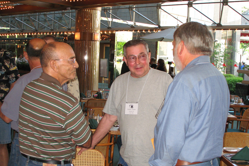 BE03: 1SG Miguel Rodriguez, CPT Bob Leinen, and LT Bill Wendover meet again after38 years.