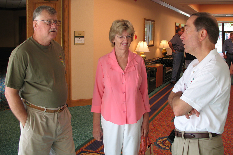 BR23: Duff and Gail Rawlings with Dave Taylor, Senior Vice-Commander, ADVA