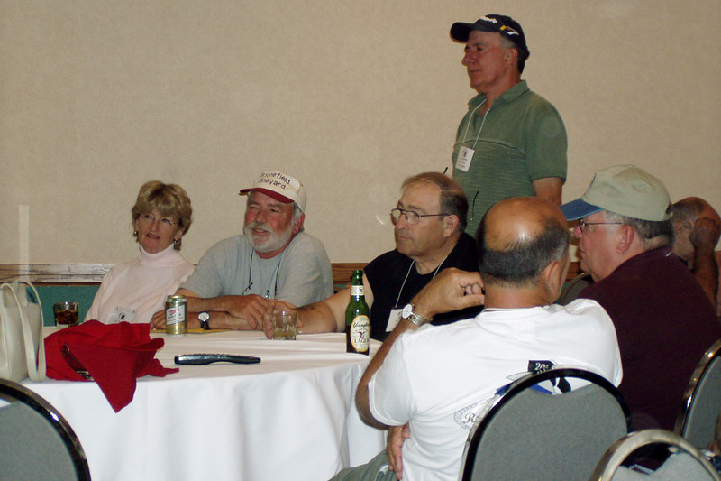 BR35: Gail Rawlings, Bill Wendover, Vic Girling, Gary LaRussa (standing), Jim Fontana with back to camera and Tom Bush