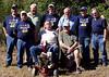 "08MR-02: Standing: Don Kaiser (TX, 3rd Plt), Paul ""Bear"" Senick (PA, 1st Plt), John ""Chunky"" Carlson (NJ, 1st Plt), Larry Boetsch (NJ, 1st Plt), Terry Buelow (IA, 2nd Plt), Tommy Foley (TX, 2nd Plt), and Joe Gamache (RI, HQ). Resting are Alan Allen (TX, 1st Plt) and Harry Thompson (TX, HQ)."