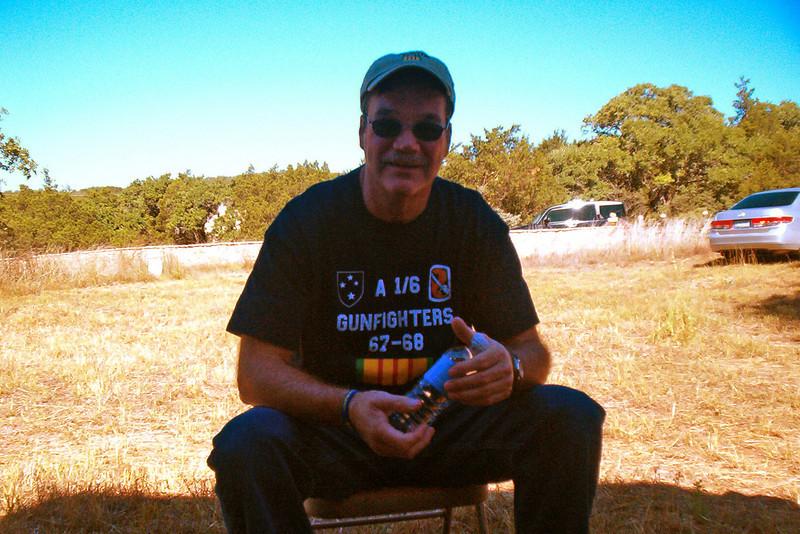 08MR-25: Larry Boetsch taking it easy in the shade.