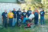 TX-09-MINI-09: Terry Buelow, Tommy Foley, John Carlson, Larry Boetsch, Paul Senick, Don Kaiser, Harry Thompson, Joe Gamache, and Alan Allen on scooter.