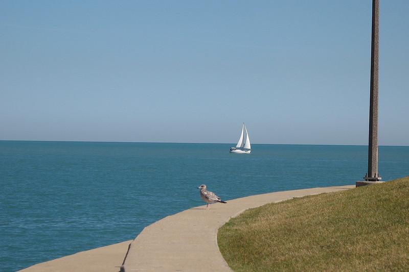 CR025: View of Lake Michigan.