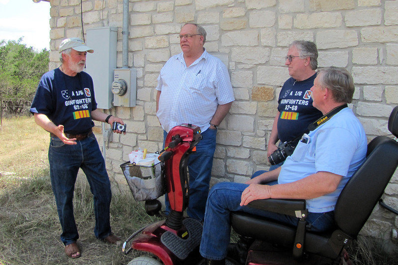 TX-11-MINI-46: Bill Wendover, CA; Don Kaiser, TX; Joe Gamache, RI; and Alan Allen, Texas, in Texas for the June 2011 mini-reunion.