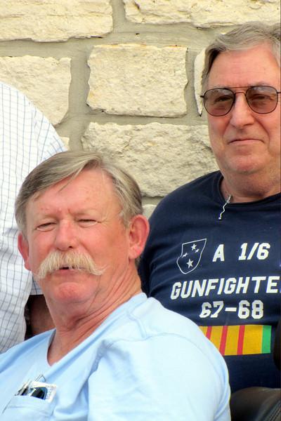 TX-11-MINI-35: Alan Allen, TX, 1st Plt., and Joe Gamache, RI, HQ.