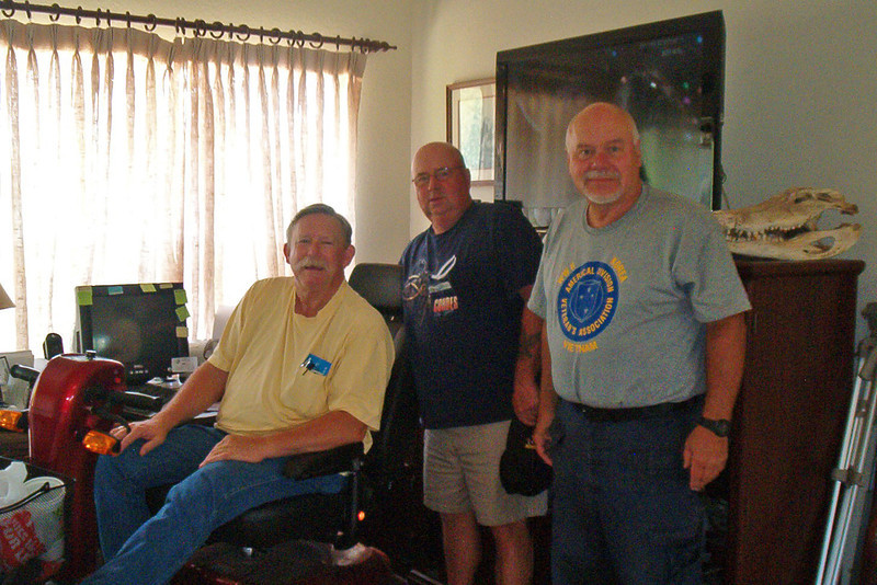 TX-11-MINI-51: Alan Allen, Frenchy Charbonneau and Terry Buelow, during the June 2011 mini-reunion.