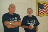 TX-11-MINI-59: John Carlson, NJ, and Bill Wendover, CA, both of 1st platoon, during the June 2011 mini-reunion.