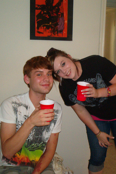 TX-11-MINI-69: Alison Boetsch on right, and friend at the June 2011 mini-reunion.