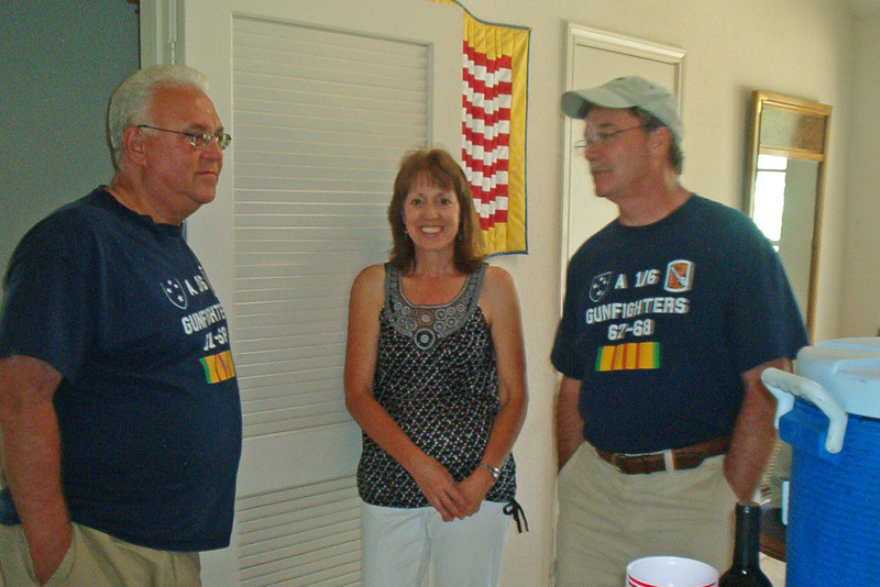 TX-11-MINI-65: John Carlson, Cindy and Larry Boetsch, during the June 2011 mini-reunion. Larry and Chunky are known as the Twinkie Twins.