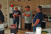 TX-11-MINI-67: John Carlson, Bill Wendover, Frenchy Charbonneau and Joe Gamache hang around the kitchen during the June 2011 mini-reunion.