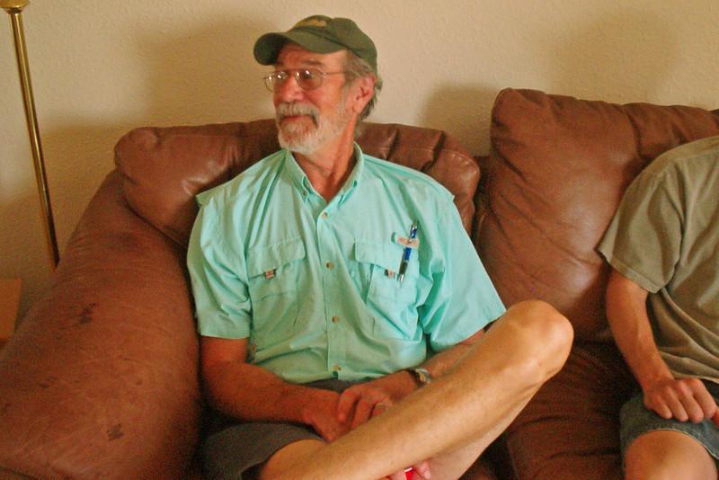 TX-11-MINI-61: Glenn Boydston, Allen's best fishing buddy, stopped by during the June 2011 mini-reunion.