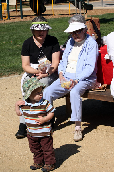 Nancy Kelley Sheng, her grandson & her mom, Mrs. Kelley